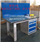 虎钳工作桌 南京重型钳工桌 天金冈4抽屉带挂板工作台